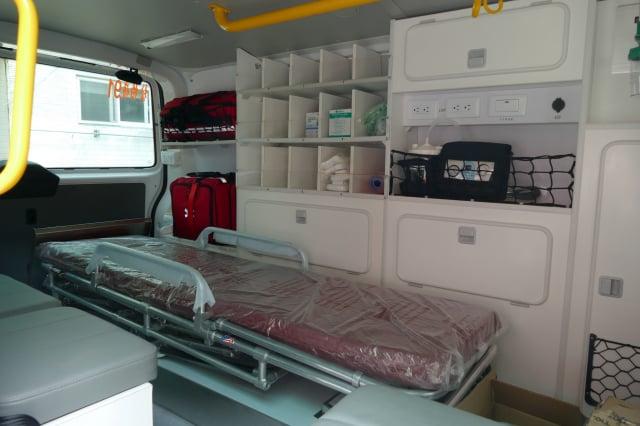 救護車內的新穎救護器材。
