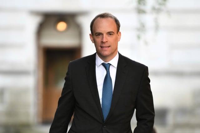 英國外交大臣多拉布宣布,將今年的對中援助基金削減95%,至90萬英鎊。圖為拉布資料照。(DANIEL LEAL-OLIVAS/AFP via Getty Images)