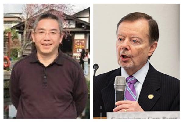左為:前北京律師賴建平;右為:美國國際宗教自由委員會委員鮑爾。(大紀元合成圖)