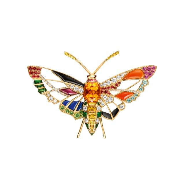 CHAUMET獻出麗晶獨家Eclosion de Chaumet系列,將線條與色彩轉化成春意盎然的珠寶。(麗晶精品提供)