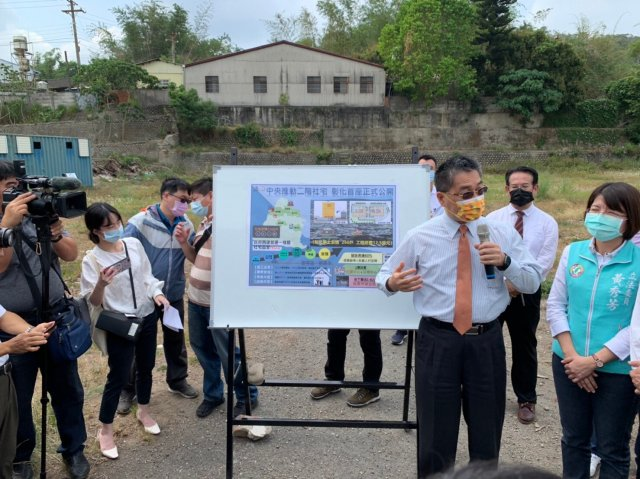 內政部長徐國勇宣示彰化市首座社會住宅啟動。(立委黃秀芳服務處提供)