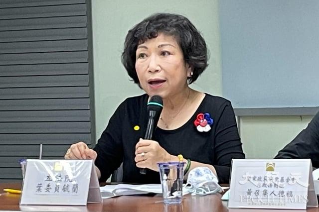 國民黨立委葉毓蘭認為,民眾不信任司法,不只是受翁茂鍾案影響,是因為司法對黑幫份子也特別寬容。(記者袁世鋼/攝影)