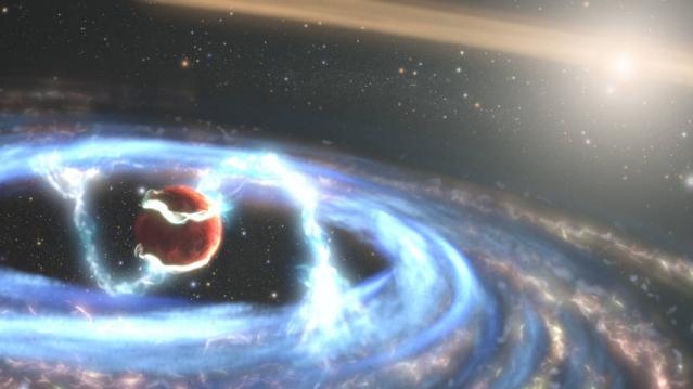 哈伯太空望遠鏡最近捕獲了一個難得一見的天文事件。(Credits: NASA, ESA, STScI, Joseph Olmsted (STScI))