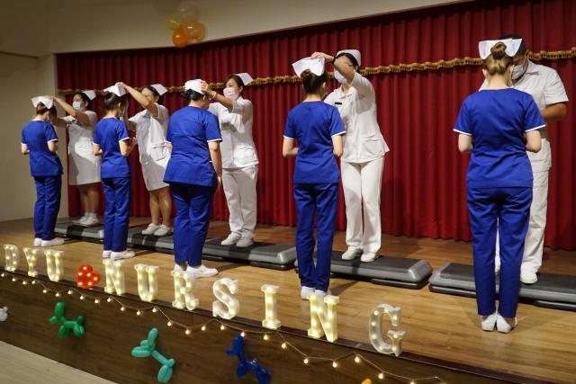 大葉大學護理系舉辦加冠典禮。