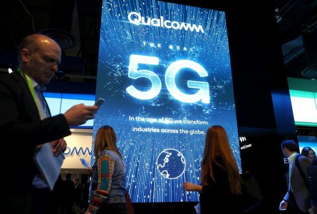 調查發現,高通(Qualcomm)5G晶片存在一項非常嚴重的資安漏洞。(Justin Sullivan/Getty Images)