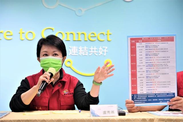 市長盧秀燕表示,台中確診情況仍屬個案,15日已開始進行全市大消毒。