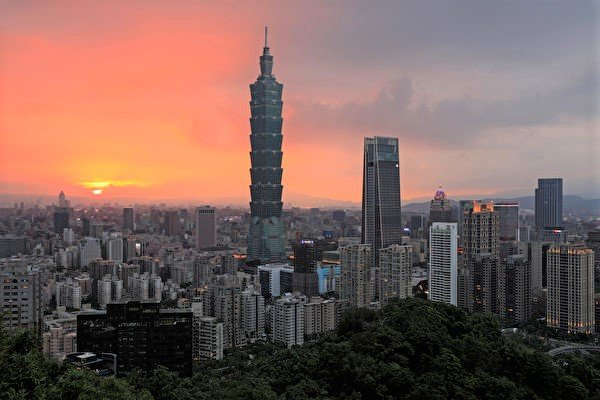 臺北101超高大樓景觀。(Daniel SHIH/AFP)