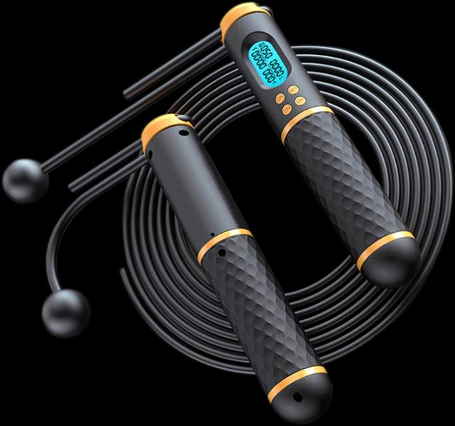 跳繩可提高燃脂效果,加上智能計數與調整繩長更便利。(樂天市場提供)