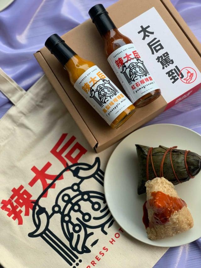 辣太后端午節禮盒(鳳梨味噌辣醬+紅石榴辣醬)。(Pinkoi提供)