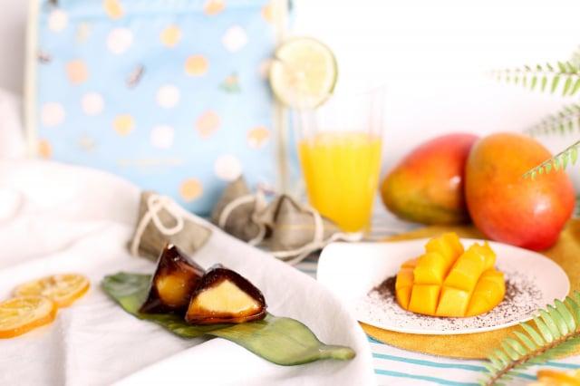舊振南「伯爵紅茶芒果冰粽」採用芒果作內餡,外皮為伯爵紅茶,絕妙配對。(舊振南提供)