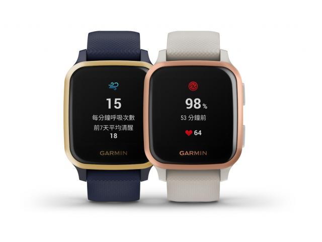 Garmin的VENU SQ系列支援全天候血氧感測,滿足消費者全天候健康監測需求。(品牌業者提供)