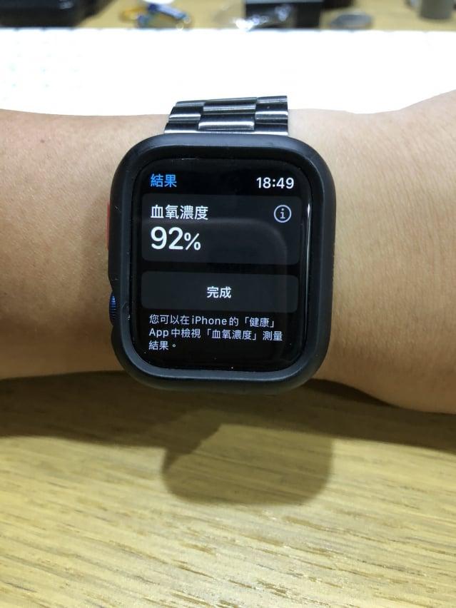 Apple Watch Series 6也有偵測血氧功能。(施芝吟/攝影)