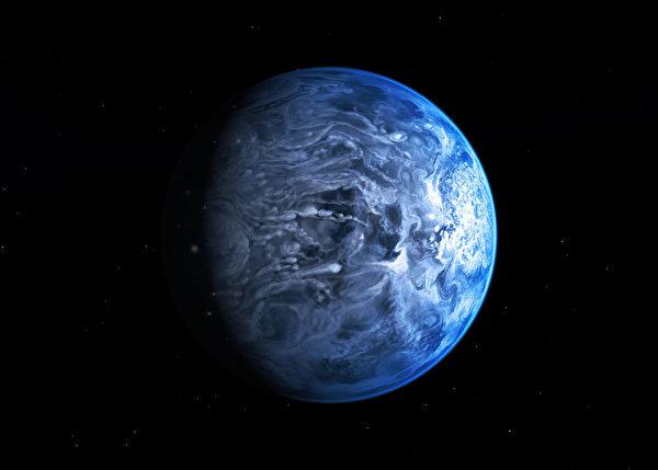 HD 189733b行星地表溫度有980攝氏度。(NASA, ESA, M. Kornmesser/維基)