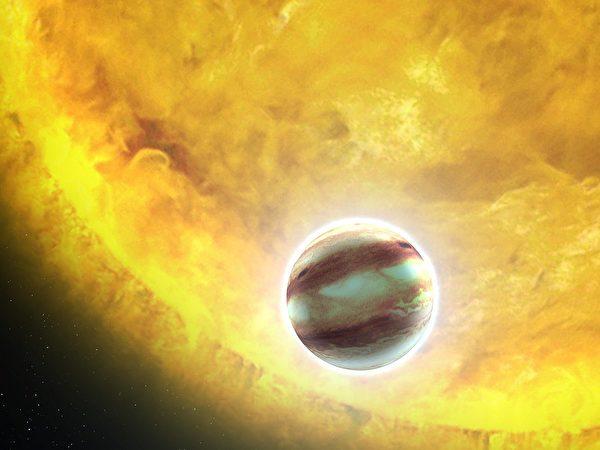 HAT-P-7b星的繪畫圖。(NASA,ESA和G.Bacon(STScI)/維基)
