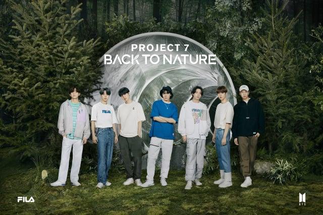 FILA Project 7 : BACK TO NATURE靈感來自大自然,運用再生材質、大地色系和舒適剪裁貫穿整個系列。(FILA提供)