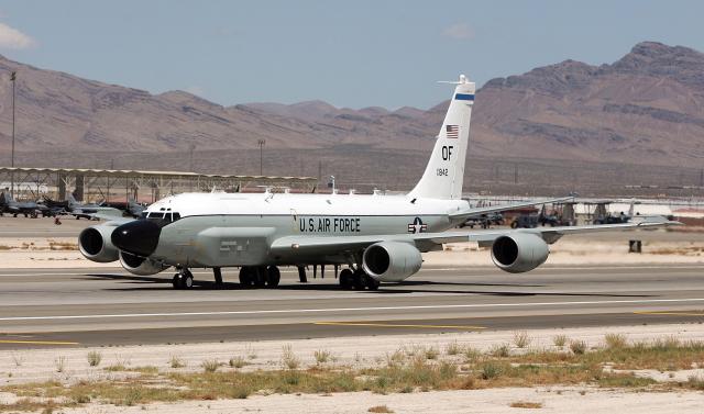 RC-135U電子偵察機。(Ethan Miller/Getty Images)