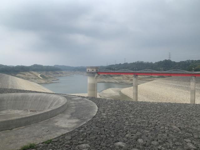 圖為新竹縣寶山第二水庫。(中央社)