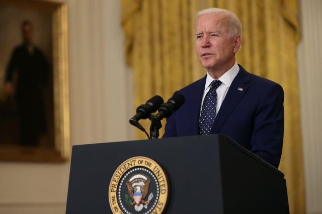 美國總統拜登在訪問歐洲前發表文章,強調民主國家要團結一致,應對新時代的挑戰並阻止威脅。拜登資料照。(Chip Somodevilla/Getty Images)