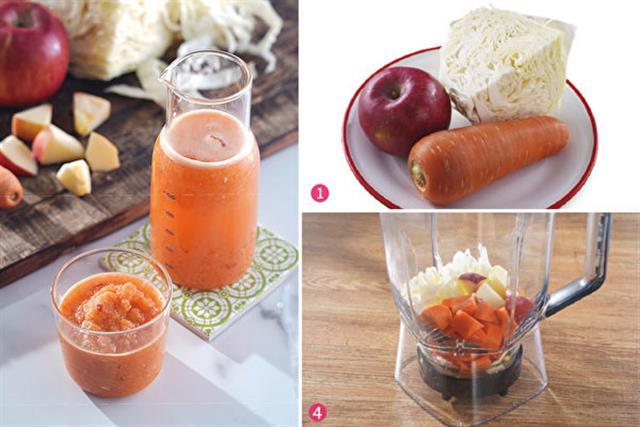 ACC果汁將甜菜根換成高麗菜,對腸胃更溫和,同樣也可達瘦身效果。(采實文化提供)