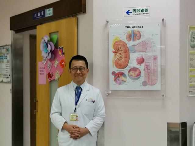 北榮桃園分院腎臟科常逸平主任診療細心,深獲民眾信賴。(北榮桃園分院提供)