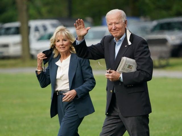 美國總統拜登和第一夫人吉兒6月9日啟程前往歐洲,展開為期八天的首次出訪。(MANDEL NGAN/AFP via Getty Images)