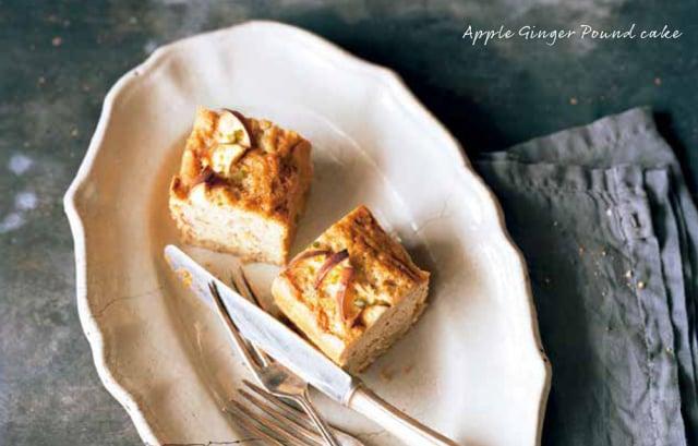 混入大量薑泥的麵糊中,加入蘋果、核桃,做成一款有獨特辛辣香氣的甜點。(台灣東販提供)