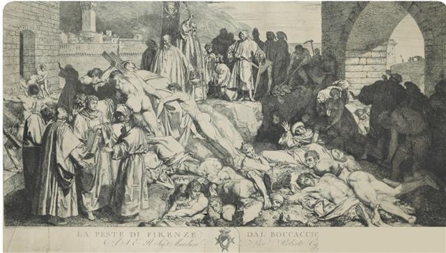 1348年佛羅倫斯的瘟疫繪圖。(公有領域/wellcomecollection.org)