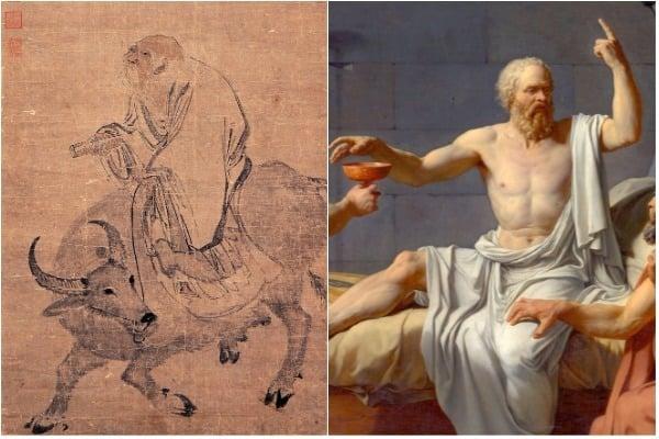 老子與蘇格拉底(大紀元合成圖)