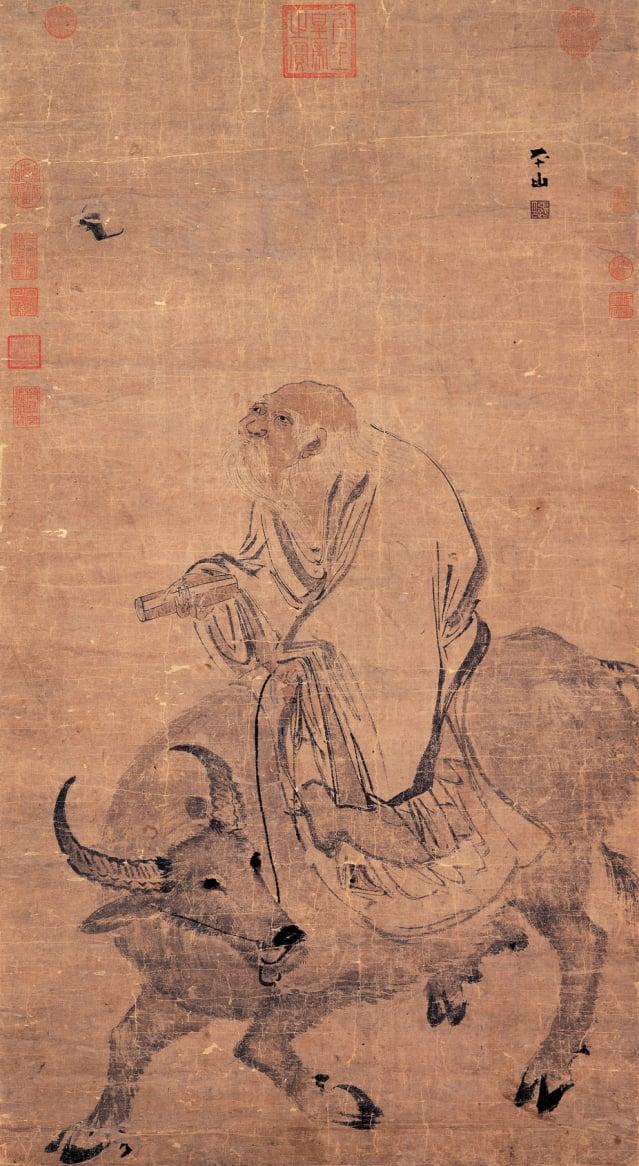 清・張路《老子騎青牛》。現藏於國立故宮博物院。(公有領域)