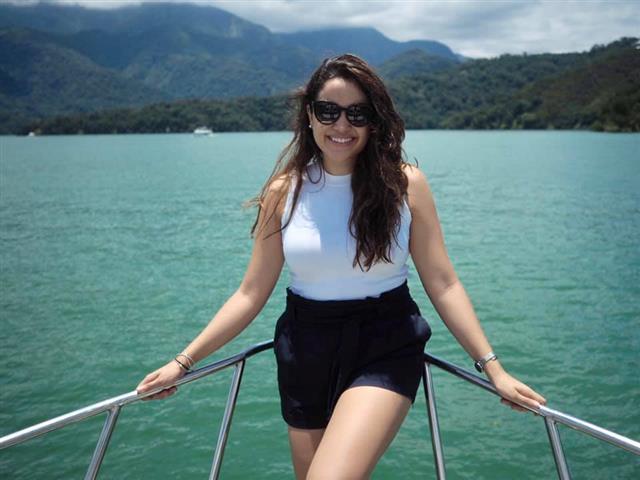 蜜菈來自瓜地馬拉,盛讚臺灣友善的語言學習環境,讓她自然的學會華文。(瓜地馬拉籍蜜菈提供)