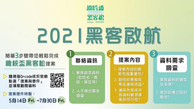 2021總統盃黑客松以「永續2.0・韌性島嶼」為主題。(國發會提供)