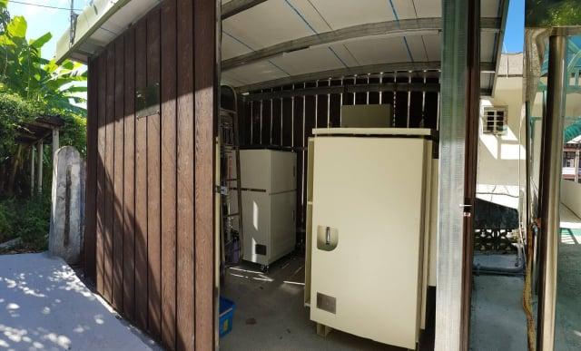 復興奎輝里辦公處防災型能源自主系統。(桃園市環保局提供)