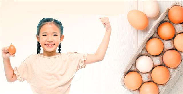 雞蛋除了含有豐富蛋白質,蛋黃中也含有豐富的維生素A、B1、B2和鐵、磷等礦物質,蛋是經濟實惠的營養食物。(123RF)
