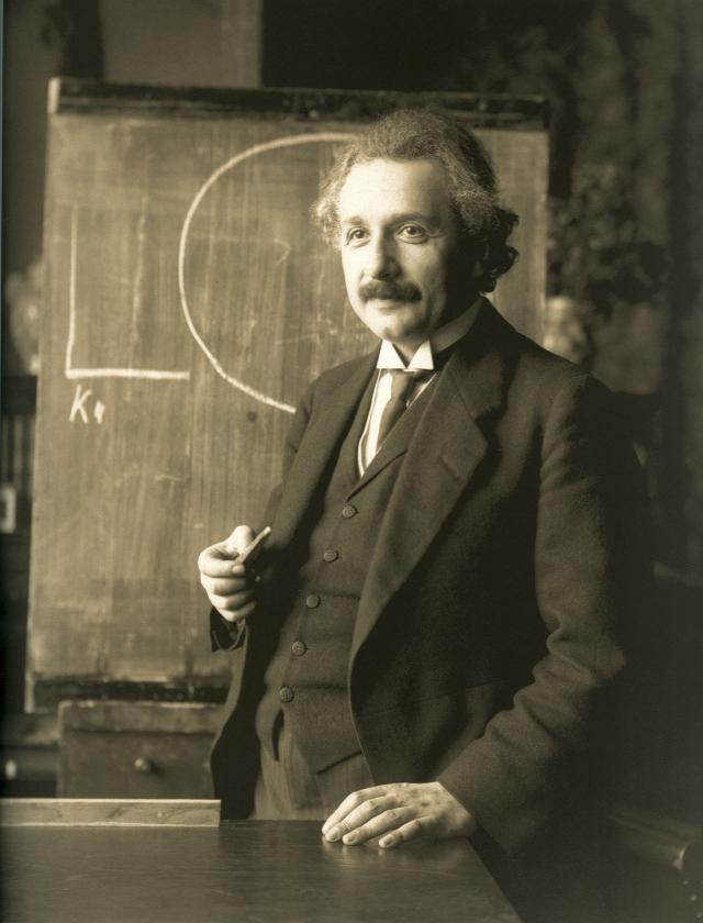 1921年的愛因斯坦。(維基百科)