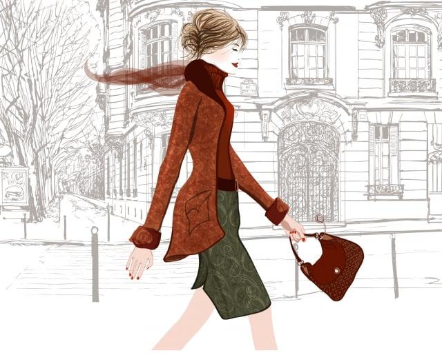 走在街上的法國女人。(Shutterstock)