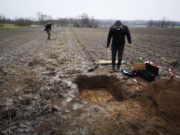 考古學家近期在匈牙利中部進行考古。(費倫齊博物館中心提供)