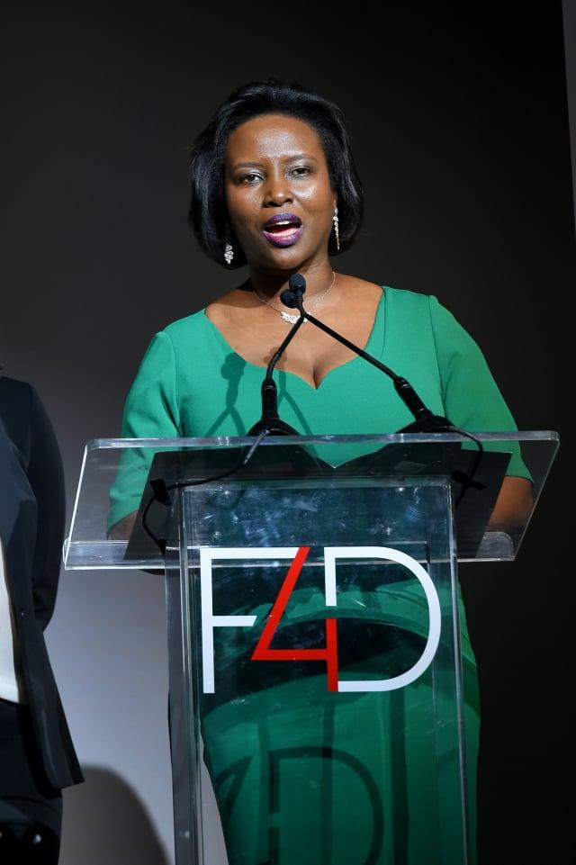 海地第一夫人瑪婷(Martine Moise)資料照。( Ben Gabbe/Getty Images for Fashion 4 Development)