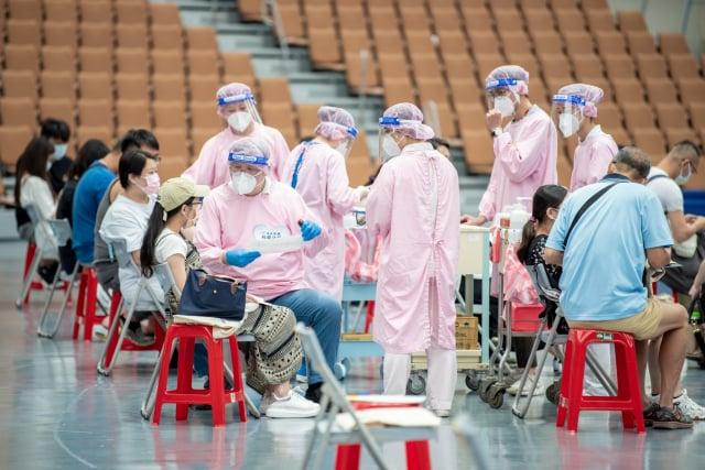 桃園孕婦莫德納專案為千名準媽媽完成接種。(桃園市府新聞處提供)