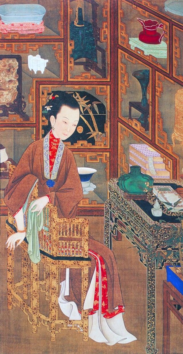 1.清.佚名,絹本《雍正十二美人圖》-博古幽思(維基百科)