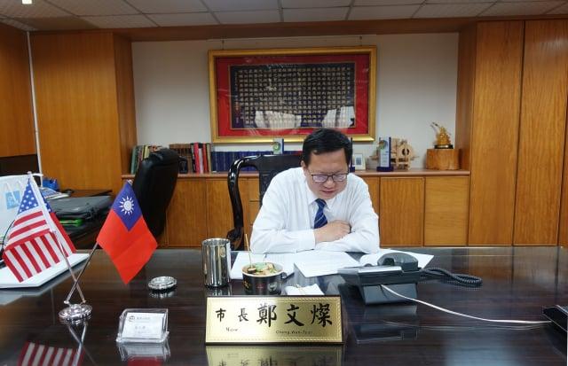 鄭文燦與酈處長通話告別,歡迎愛台灣的酈處長再度回台相聚。