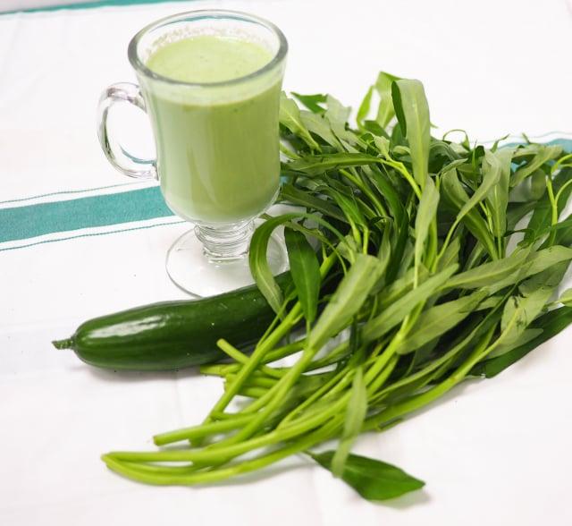 美白晶潤蔬果汁。(活水源天癒農法蔬果食品提供)