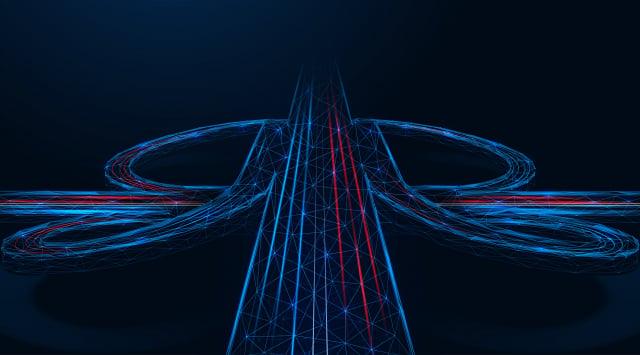 一家公司開發出空中交通網絡系統,有望解決地面交通擁塞問題。此為示意圖。(Shutterstock)