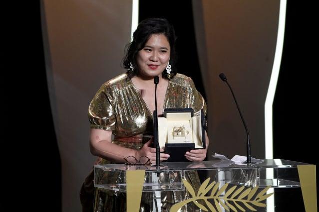 香港青年導演唐藝執導的《天下烏鴉》獲得第74屆坎城影展短片金棕櫚獎。(CHRISTOPHE SIMON/AFP via Getty Images)