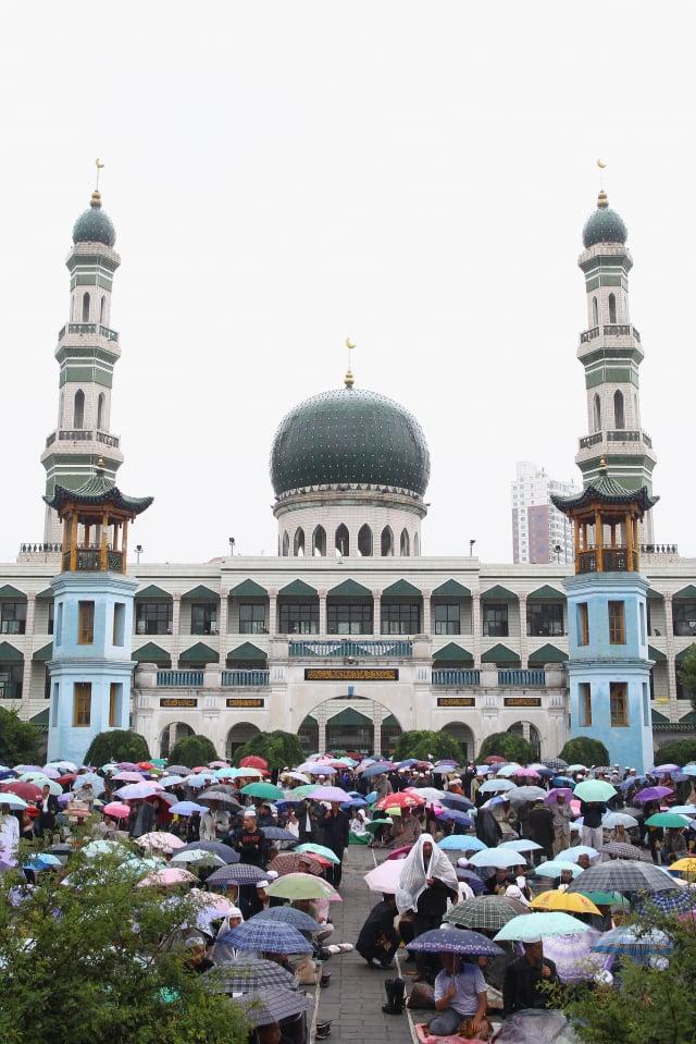 青海省西寧市著名的東關清真寺,或難逃中共改造毒手。圖為資料照。(Feng Li/Getty Images)