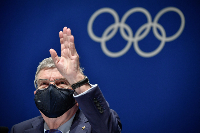 國際奧林匹克委員會主席巴赫。(FABRICE COFFRINI/AFP via Getty Images)