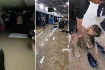鄭州民眾因雨受困 不見官方救援