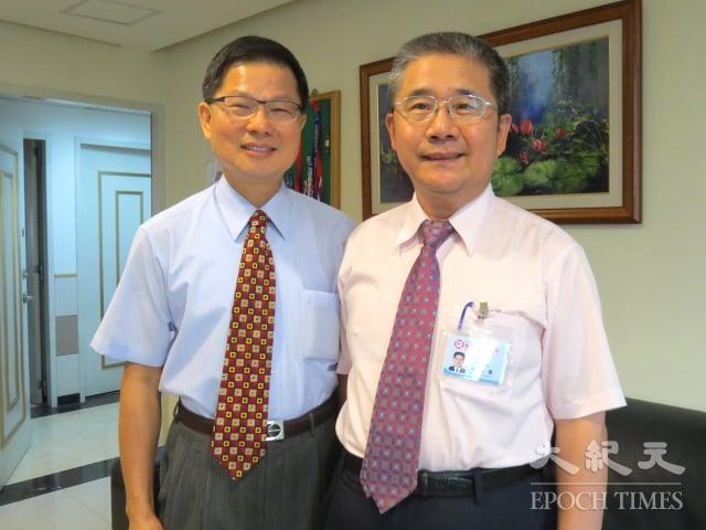 左起,中壢宏其婦幼醫院長張紅淇與副院長劉興寬。(記者徐乃義/攝影)