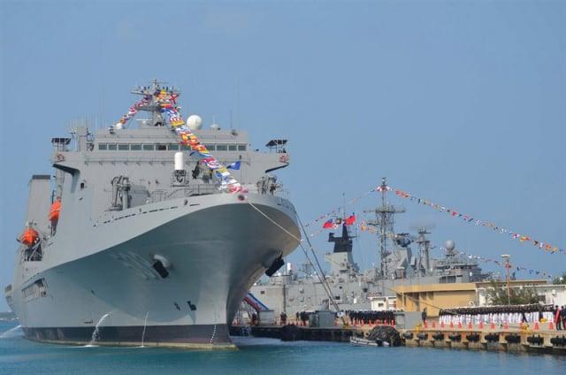 中共會不會突襲台灣,已成世界關注焦點。圖為臺灣海軍敦睦艦隊。(中央社)
