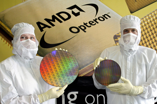 圖為AMD的晶片。(NORBERT MILLAUER/DDP/AFP via Getty Images)