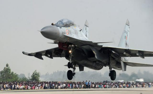 圖為印度空軍的Su-30戰機。(SANJAY KANOJIA/AFP via Getty Images)